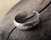 Sterling Silver Toe Ring- Shiny Half Round