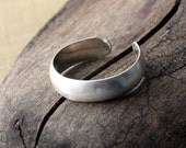 Sterling Silver Toe Ring- Textured Half Round