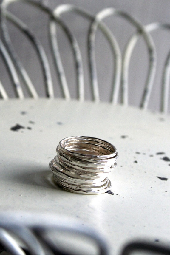 Sterling Silver Slim Stacking Rings- Bakers Dozen