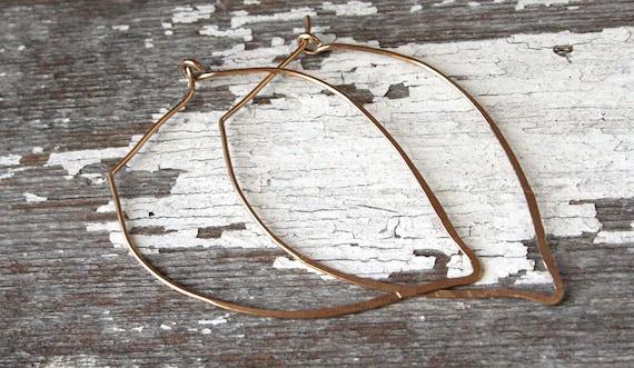 Lotus Petal 14K Gold Filled Hoop Earrings