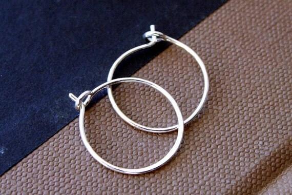 Sterling Silver Sleeper Hoop Earrings in Small