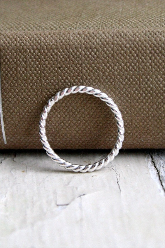 Twist Sterling Silver Stacking Ring
