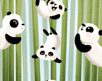 "Panda Painting, Nursery wall art, Kids Art, Panda Wall Decor, Panda, Cute Pandas Art Print - ""Pandamonium"""