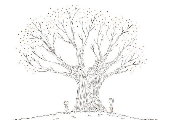 "Black and White art, Tree Art, Hope Print, Romantic Art Print - ""Beauty is Everywhere"""