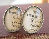 Personalized Mens Gifts, Vintage Dictionary Words cufflinks, Custom cufflinks, Best Man Gift, Groomsman Cufflinks, Bridal Party Gifts