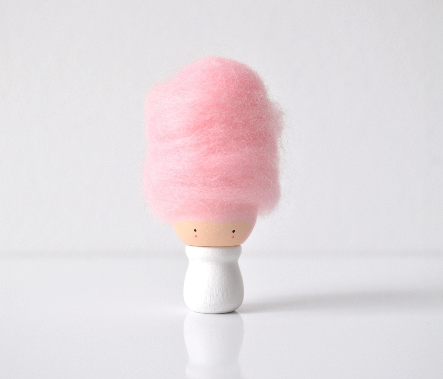 Cute Cotton Candy Wooden Figurine