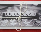 10 Mini thankyou flatcards with envelopes