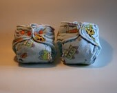 SALE TWO Newborn Fitted Diapers