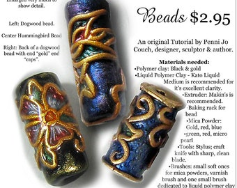 Tutorial-Faux Cloisonne Focal Bead