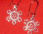 Gold Filigree Snowflake Earrings