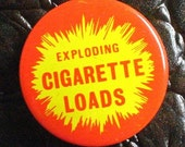 Vintage Exploding Cigarette Loads Tin, excellent condition, metal advertising tin, nerdy practical joke, geekery, 1950s Atlas Novelty Supply