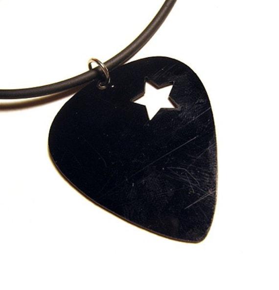 Shooting Star Cutout Guitar Pick Necklace