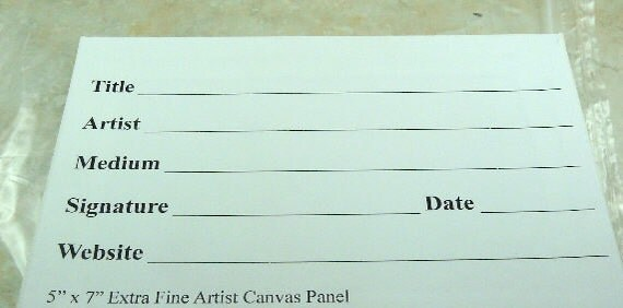 Portrait Grade Canvas  5 x 7 Handmade Artists Panel Board