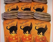 Halloween Kitty Mason Jar Tags