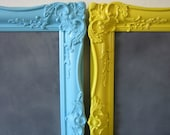 """SALE 20% Off at Check-out Chalkboard, Magnetic Chalkboard, Memo Board, Vintage Ornate Frame Sunshine YELLOW 18"""" x 21"""""""