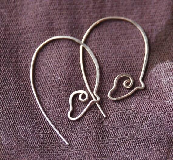 Sterling Silver Horse Earrings, Large Grazing Horse Earrings