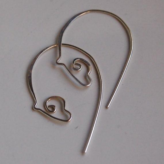 Sterling Silver Horse Earrings, Small Grazing Horse Earrings