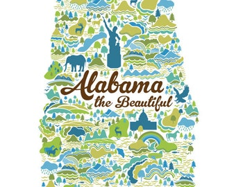 Alabama the Beautiful print