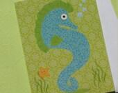 Sassy Seahorse Greeting card