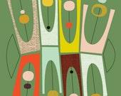 Giclee Print (item No. P-2012-19 Green Satellite)