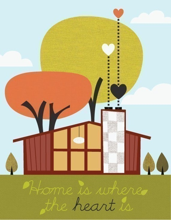 Home is where the heart is (matte finish)