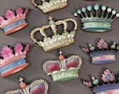 Mini Wooden Crowns - Fancy Royal Style