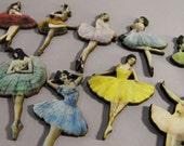 Vintage Ballerinas - Collection of 10 Wooden Laser Cut Pieces