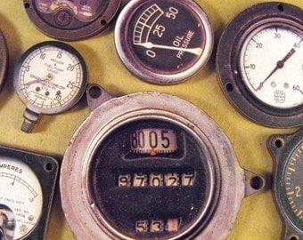 Obsolete Meters and Gauges from the Lost Space Race