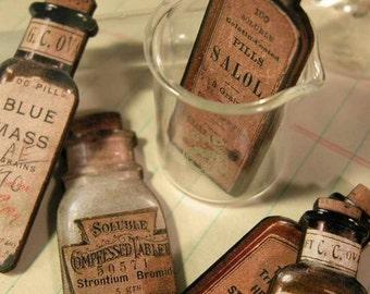 Wooden Medicine Bottles