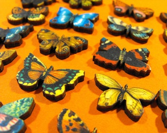 Super Small Butterflies - Collection of 18 Wood Cuts