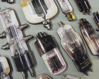 Wooden Vacuum Tubes   Obsolete Electronic Parts