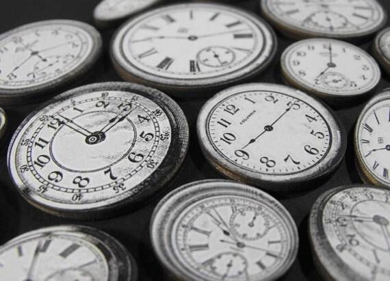 Wood Clock Faces with a Salvador Dali Twist