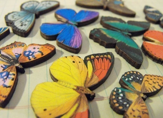 Mini Wooden Butterflies