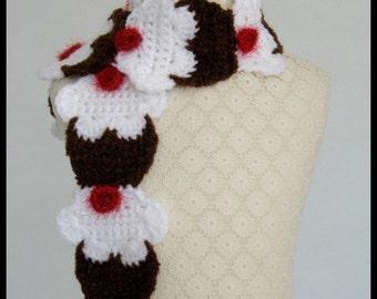 Crochet Scarf Pattern, Yummy Cupcake