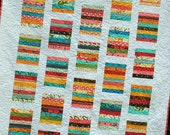 PDF Quilt Pattern ...Quick and Easy ...Layer Cake or Fat Quarters or Scraps ...Simply Stripy