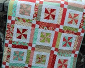 QUILT PATTERN , Baby or Lap .... Easy...one Layer cake or Fat Quarters, Lemonade Lollipop