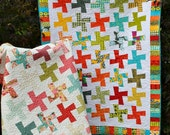 quilt PATTERN five sizes from baby to king.... Layer Cake or Fat Quarters, Color in Motion