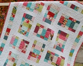 Baby Quilt or Toddler Crib Quilt ....Moda's Sophie Fabric, patterns also for sale