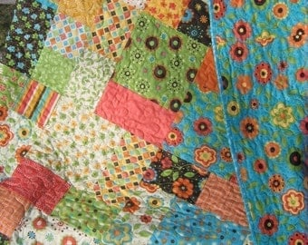 Quilt Pattern.....Baby and large Lap size, Easy and Quick ... Flowers in the Garden