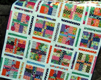 quilt PATTERN five sizes baby to king.... Layer Cake or Fat Quarters ...Under the Boardwalk