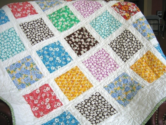 QUILT PATTERN....Simple Quick and Easy French Window Panes : window pane quilt pattern free - Adamdwight.com