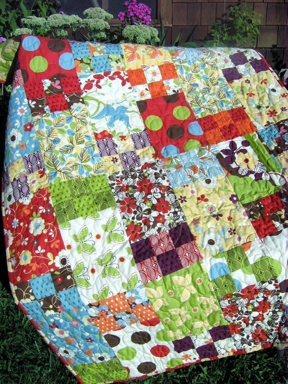 PDF QUILT PATTERN.... Easy and Quick beginner pattern...5 sizes...Life is Like a Box of Chocolates