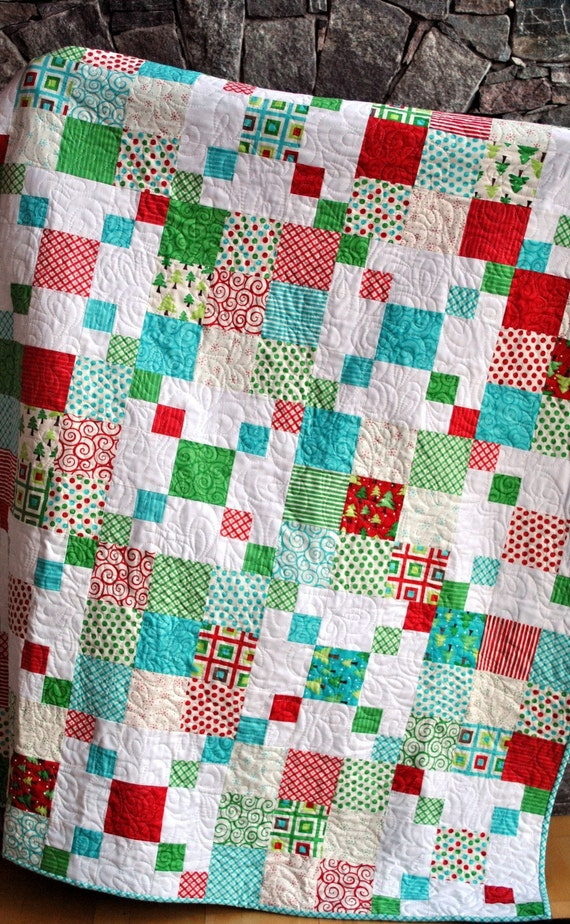 PDF QUILT PATTERN.... Quick and Easy...one Layer Cake or Fat Quarters...Rocky Road