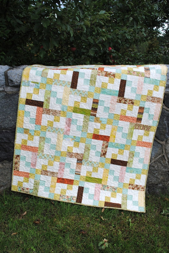 Twin Quilt Patterns Free : Quilt Pattern.... Baby or Twin Quilt size Quick and Easy