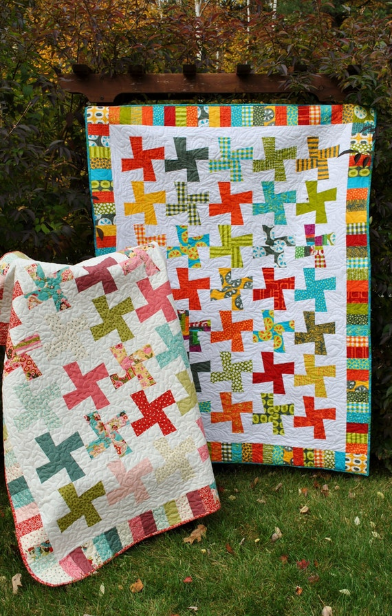 Layer Cake Quilt Block Size : PDF quilt PATTERN five sizes from baby to king.... Layer Cake