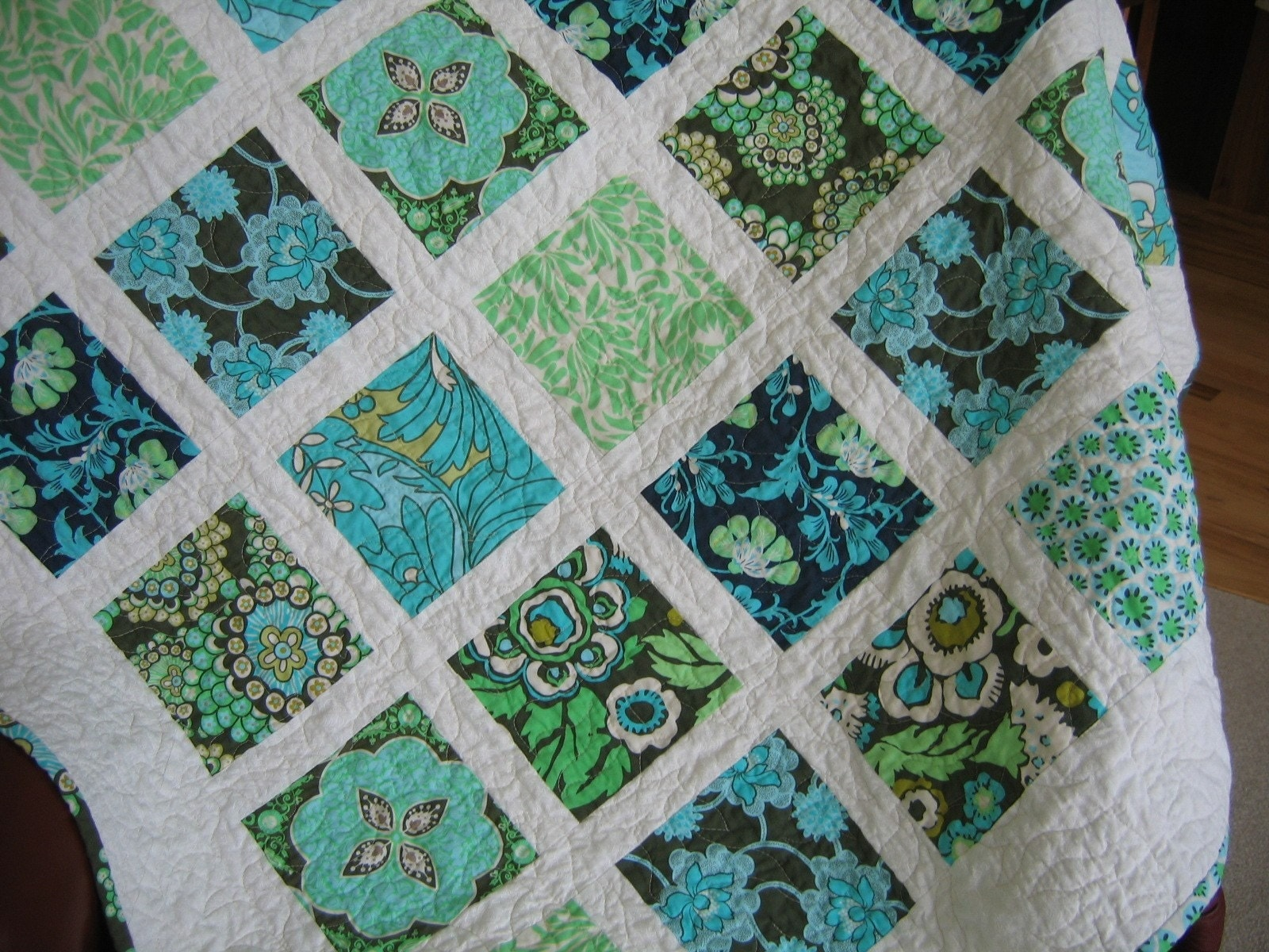 Amy Butler Daisy Chain Lap Quilt Or Wall Hanging 50 X 50