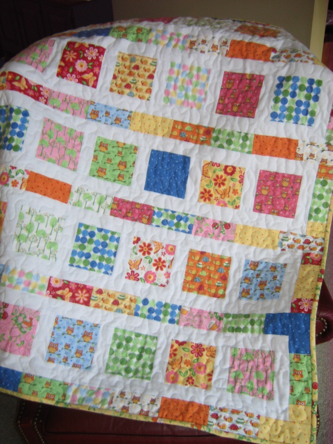 Moda Love U Baby Or Toddler Crib Quilt Boy Or Girl