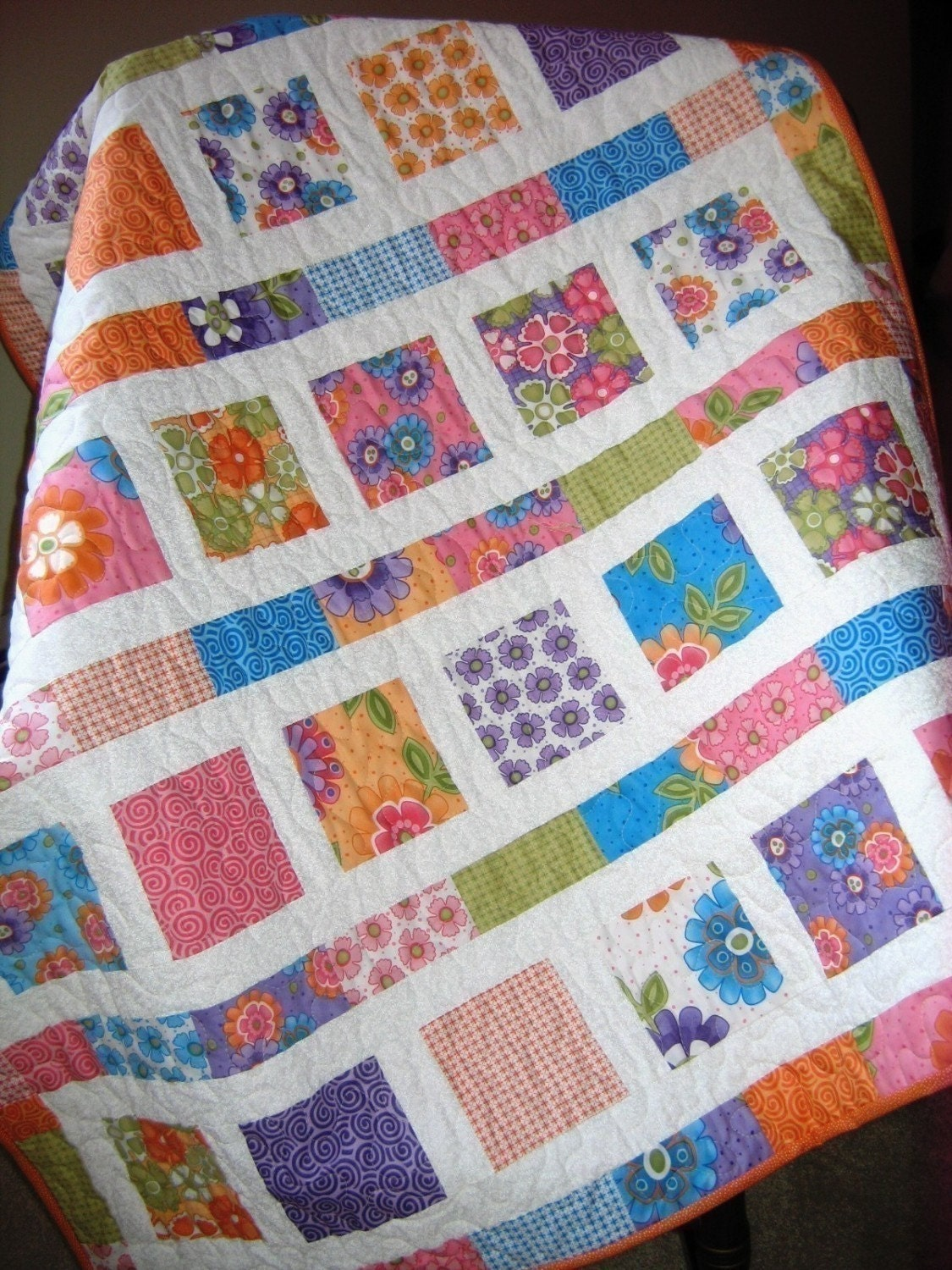 Flowers In The Sunshine Baby Quilt Pattern Quick And
