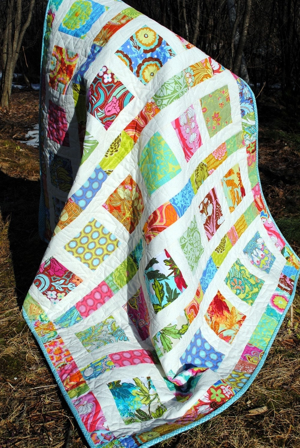 Baby Quilt Pattern Quick And Easy 2 Charm Square By