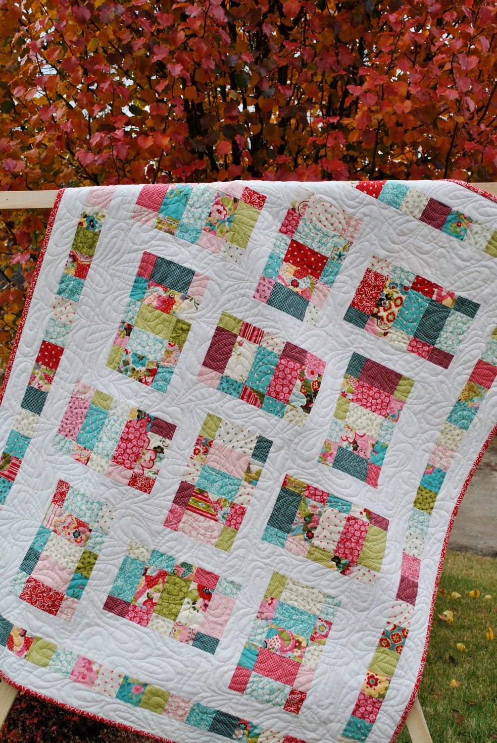 Baby Quilt or Toddler Crib Quilt ....Moda s Sophie Fabric